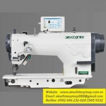 ZJ2290S máy zigzag Zoje ,máy zigzag điện tử đa chức năng tự động cắt chỉ,tự động lại mũi,tự động nâng chân vịt .2chấm,3chấm,4chấm ,99 mẫu