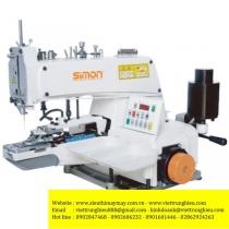 SM-373D máy nút Simon ,máy đính nút 1 sợi chỉ ,motor liền trục nâng chân vịt tự động
