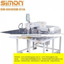 SM-6040GB-01A máy lập trình Simon ,máy may chương trình điện tử khung 600 x 400mm cắt chỉ tự động dùng hơi ,màn hình LCD