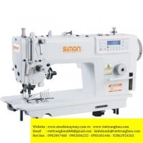 SM-8990P-7C4 máy may Simon ,máy 1 kim xén điện tử cắt chỉ ,nâng chân vịt tự động ,có cữ viền