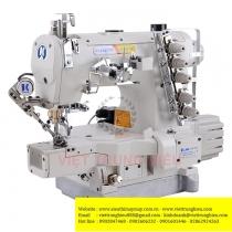 JK-8669BDII-01GBx356-UT máy viền Jack  ,loại viền ống 3 kim đánh bông điện tử cắt chỉ nâng chân vịt tự động