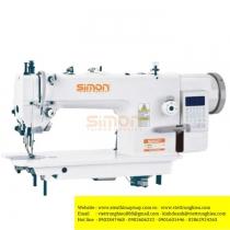 SM-340-D3 máy may Simon ,máy 1 kim chân vịt bước điện tử cắt chỉ tự động