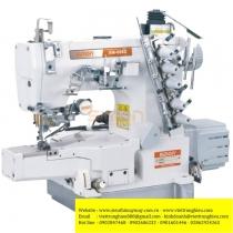 SM-698D-01-UT máy viền Simon ,máy trần viền 3 kim đánh bông điện tử đầu ống 280mm ,cắt chỉ điện và nâng chân vịt tự động