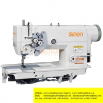 SM-8842-D máy 2 kim Simon ,máy 2 kim cố định motor liền trục ổ nhỏ ,may hàng trung bình dày