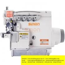 SM-6914D máy vắt sổ Simon ,máy vắt sổ 2 kim 4 chỉ motor liền trục ,khoảng cách kim 2mm bờ vắt sổ 4mm