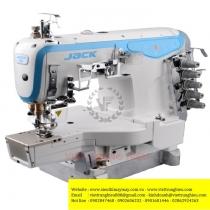 K4-D-01GB máy viền Jack  ,loại viền ống 3 kim đánh bông motor liền trục