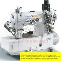 JK-8569E-01GBx356-UT máy viền bằng Jack ,máy viền bằng điện tử cắt chỉ ,nâng chân vịt tự động