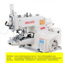 BRC-T12090C-X máy lập trình Bruce ,máy may chương trình điện tử cắt chỉ nâng chân vịt tự động ,khổ may 1200x900mm ,motor Dahao ,panel LCD ,chuyên dùng may áo Jacket và các loại khác