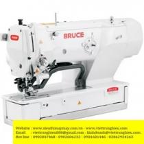BRC-T1790BK-2D máy khuy Bruce ,máy thùa khuy đầu bằng điện tử chuyên hàng knit ,sử dụng được nhiều mẫu khuy khác nhau ,kích thước mẫu khuy 35x5mm