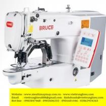 BRC-T1904BS-D máy lập trình Bruce ,máy may chương trình điện tử cắt chỉ nâng chân vịt tự động ,khổ may 60x40mm ,motor Dahao ,panel LCD ,chuyên dùng cho nối thun lưng quần hoặc đồ lót