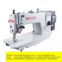 Máy may Bruce R2-CHZ, máy 1 kim điện tử cắt chỉ may hàng dày, hộp điện tử Jack