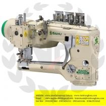 YC-62D-460-12-AT-SC1-MD máy 4 kim 6 chỉ Isamu ,máy cuốn đáy điện tử ,dao xén 2 bên ,cự ly 6.0mm ,motor liền trục ,nâng chân vịt và bộ hút rác bằng hơi và hộp điều khiển Ho-Hsing ,100% sản xuất tại Đài Loan