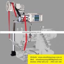 HD-E6 bộ căng thun HDMachine ,bộ căng thun điện tử dùng cho vắt sổ,viền,zigzag ,bản thun 65mm ,Panel gắn liền với chức năng may 6 đoạn và bộ nhớ 26 chương trình ,tốc độ 5,500v-phút ,kèm bộ chống rối dây