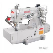 BRC-562E-01GBx356-H-UT-L máy viền Bruce ,máy trần viền 3 kim đánh bông đầu bằng điện tử ,cắt chỉ bằng hơi và nâng chân vịt tự động ,cự ly kim 5.6mm hoặc 6.4mm ,trụ kim có chức năng điều chỉnh giúp tăng thêm chiều cao của bộ nâng chân vịt