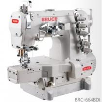 BRC-664BD-I-01GB×356 máy viền Bruce ,máy trần viền 3 kim đánh bông đầu ống 280mm ,motor liền trục tiết kiệm điện ,cự ly kim 5.6mm hoặc 6.4mm
