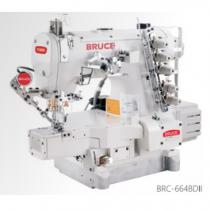 BRC-664BD-II-01GB×356-UT-L máy viền Bruce ,máy trần viền 3 kim đánh bông điện tử đầu ống 280mm ,cắt chỉ bằng hơi và nâng chân vịt tự động ,cự ly kim 5.6mm hoặc 6.4mm