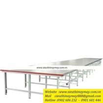 EDA ,chân bàn trải vải,cạnh bàn bọc Inox ,chiều rộng 2130mm hoặc 2330mm ,chiều dài 1200mm