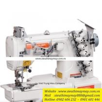 C007K-W122-356-CH máy viền Siruba ,máy viền ống đánh bông 3 kim 5 chỉ ,đường kính 280mm ,motor điện tử tiết kiệm điện