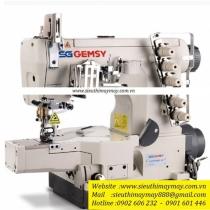GEM5600D-01 máy viền Gemsy ,máy trần viền 3 kim đánh bông đầu ống 280mm ,motor liền trục tiết kiệm điện
