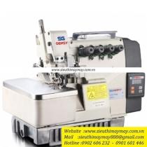 GEM772-5E máy vắt sổ Gemsy ,máy vắt sổ 2 kim 5 chỉ ,motor liền trục ,khoảng cách kim 3mm bờ vắt sổ 5mm