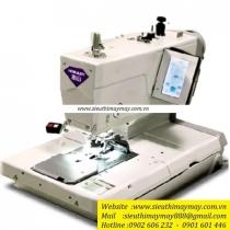 HBH-688-141 máy khuy Hikari ,máy khuy mắt phụng điện tử cắt chỉ trên và dưới chuyên may Jean