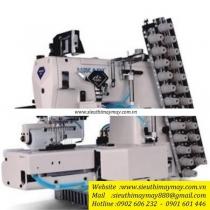 HW800TA-1264UTC-AK-PL ,máy nhiều kim Hikari  ,máy 12 kim điện tử ,cắt chỉ bằng hơi và nâng chân vịt tự động có trợ lực