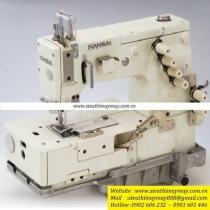 HDX-1102 máy may bao Kansai ,máy may bao để bàn 2 kim dùng may đáy bao