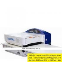Máy ép keo Hashima HP-450MS ,khổ 4500mm ,cân băng tự động
