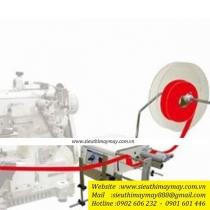 HTFS-230 bộ phụ trợ Hurg ,bộ cấp dây viền đặt bên hông máy khổ 70mm ,gắn trực tiếp xuống bàn máy ,5.5kg