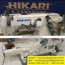 HW782TA-01×356 máy viền Hikari ,loại máy viền ống 3 kim đánh bông ,motor điện tử liền trục ,ống 280mm