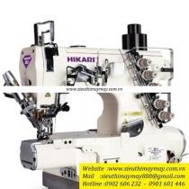 HW782TA-01x356-UTC-AK máy viền Hikari ,máy viền ống điện tử cắt chỉ bằng hơi ,nâng chân vịt tự động ,ống 280mm