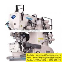 HW782T-35Bx356LV-UTC-AK máy viền xén Hikari ,máy viền ống xén trái điện tử cắt chỉ ,nâng chân vịt tự động ,ống 280mm