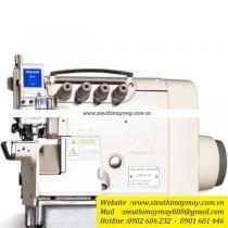 HX6914T-03-KSC-AK máy vắt sổ Hikari ,máy vắt sổ bo tay 2 kim 4 chỉ điện tử ,motor liền trục cắt chỉ hơi nâng chân vịt tự động