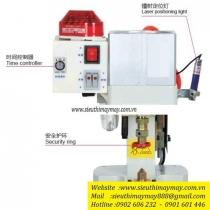 KW-01-100SH máy đóng nút Kawa ,máy dập nút đồng đồng dùng hơi 1 đầu ,có hệ thống bảo vệ tay an toàn tự động
