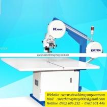 KW-900A máy cắt Kawa ,máy cắt vòng mẫu Km ,khổ bàn 1500 x 1800mm ,size dao 0.45 x 10 x 3860mm