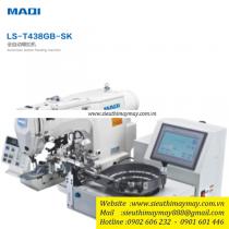 LS-T438GB-SK máy nút Maqi ,máy nút điện tử kèm bộ cấp nút tự động ,cắt chỉ nâng chân vịt tự động