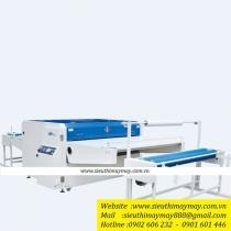 NHG1600-Q2-T máy ép keo Shengtian ,khổ 1600mm kèm bộ cấp vải cuộn ,công suất đốt nóng 34kw ,lực ép 0.7MPa ,điện áp 380v ,cân nặng 1100kg