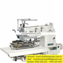 QB008-33048P-VSQ-VSM máy nhiều kim Qingben ,máy 33 kim ,khoảng cách mỗi kim 4.8mm ,kèm bộ căng chỉ thun và bộ đánh bông trang trí