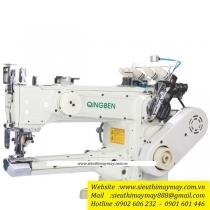 QB1500-156L-ZD máy viền Qingben máy viền đánh bông đầu heo điện tử 2 cầu cưa thân dài 42cm