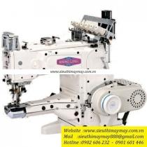 SL2700-356-AST máy viền Shing Ling ,máy viền đầu heo điện tử cắt chỉ hơi nâng chân vịt tự động
