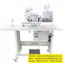 SM-438GA-01-FSK-100 máy nút Simon ,máy nút điện tử kèm bộ cấp nút tự động dùng hơi ,size nút 9~15mm