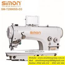 SM-T2990SS-D3 máy zigzag Simon ,máy zigzag điện tử cắt chỉ tự động ,motor liền trục ,sử dụng nhiều mẫu chương trình khác nhau