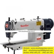 SS H202E-TD3 máy may Sunsir ,máy kim ổ lớn điện tử cắt chỉ tự động ,chuyên may hàng dày