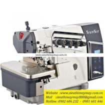R1-4-54-433 máy vắt sổ Sunsir ,máy vắt sổ 2 kim 4 chỉ ,motor liền trục thế hệ mới ,khoảng cách kim 2mm bờ vắt sổ 4mm