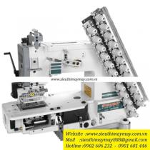 VC008-23032P máy nhiều kim Siruba ,máy 23 kim may móc xích ,khoảng cách kim 3.2mm ,sử dụng motor điện tử tiết kiệm điện