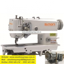 SM-875-5 máy may 2 kim Simon ,máy 2 kim di động ổ lớn chuyên may hàng dày ,sử dụng motor,tiết kiệm điện
