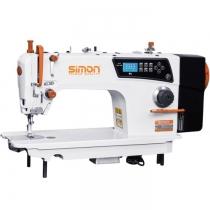 SM-8910E-7C5-AK máy may Simon ,máy 1 kim điện tử cắt chỉ và nâng chân vịt tự động ,có chức năng hướng dẫn bằng giọng nói và cổng usb ,motor Qixing