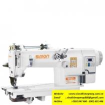 SM-8380D-PL máy móc xích Simon ,máy 2 kim móc xích 2 kim song song ,motor liền trục tiết kiệm điện ,có trợ lực