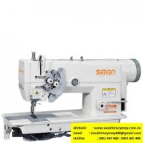 SM-8845-D máy may 2 kim Simon ,máy 2 kim di động motor liền trục ổ nhỏ ,sử dụng motor tiết kiệm điện ,may hàng trung bình dày